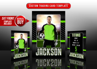 SPORTS TRADING CARDS AND 5X7 TEMPLATE - BOLD