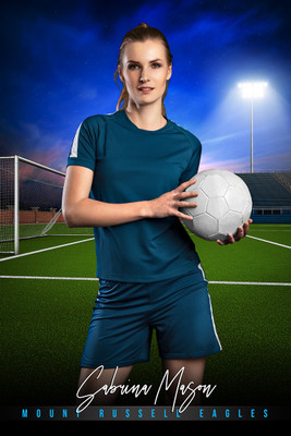 PLAYER BANNER PHOTO TEMPLATE - HOME TURF II - SOCCER - CUSTOM PHOTOSHOP LAYERED SPORTS TEMPLATE