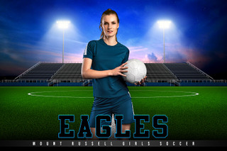 PLAYER & TEAM BANNER PHOTO TEMPLATE - HOME TURF - SOCCER - CUSTOM PHOTOSHOP LAYERED SPORTS TEMPLATE