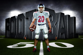 PLAYER & TEAM BANNER PHOTO TEMPLATE - SURREAL FOOTBALL - CUSTOM PHOTOSHOP LAYERED SPORTS TEMPLATE