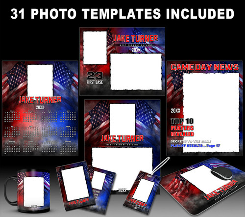 PRIDE COLLECTION - PHOTOSHOP SPORTS TEMPLATE COLLECTION