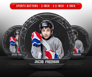 SPORTS PHOTO BUTTON TEMPLATES - HOCKEY CHALK