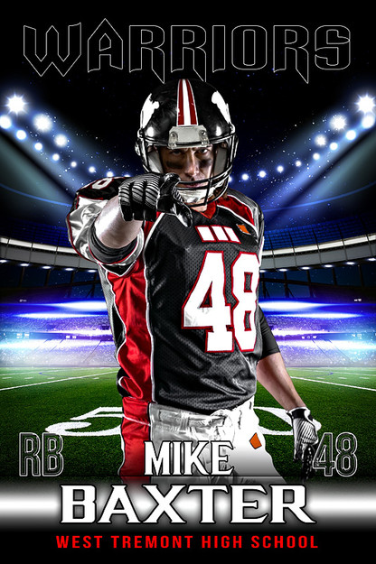 Player banner sports photo template for football for Sports team photography templates