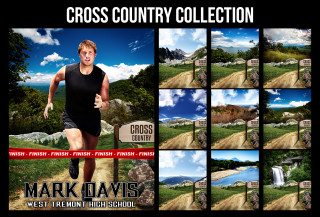 SPORTS POSTER PHOTO TEMPLATE - CROSS COUNTRY