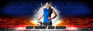 PANORAMIC SPORTS BANNER TEMPLATE - SPLASH VOLLEYBALL