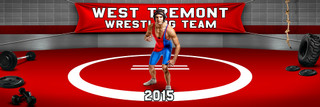 PANORAMIC SPORTS BANNER TEMPLATE - WRESTLING