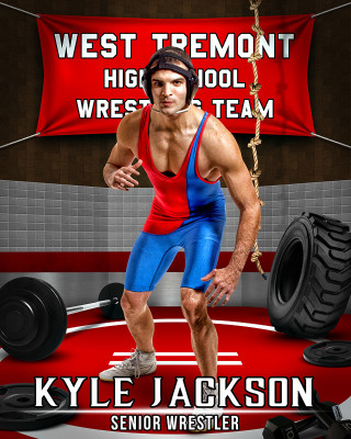 SPORTS POSTER PHOTO TEMPLATE - WRESTLING