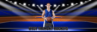 PANORAMIC SPORTS BANNER TEMPLATE - BASKETBALL ARENA