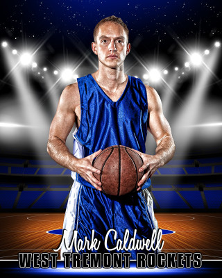 SPORTS POSTER PHOTO TEMPLATE - BASKETBALL ARENA