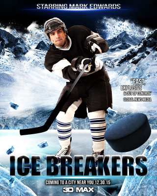 SPORTS POSTER PHOTO TEMPLATE - ICE BREAKERS