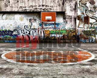 DIGITAL SPORTS BACKGROUND - BASKETBALL GRAFFITI