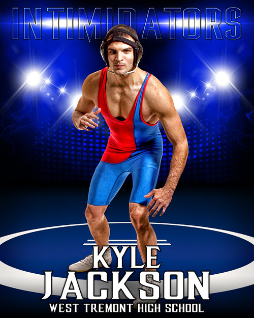 sports poster photo template for wrestling