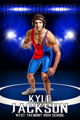 PLAYER BANNER PHOTO TEMPLATE - WRESTLING ARENA