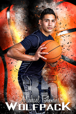 PLAYER BANNER PHOTO TEMPLATE - BASKETBALL INFERNO