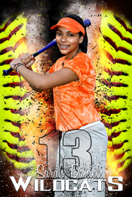 PLAYER BANNER PHOTO TEMPLATE - SOFTBALL INFERNO
