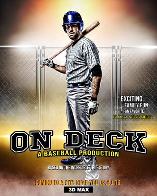 SPORTS POSTER PHOTO TEMPLATE - ON DECK