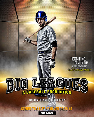 SPORTS POSTER PHOTO TEMPLATE - BIG LEAGUES