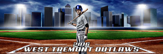 PANORAMIC SPORTS BANNER TEMPLATE - HOME RUN