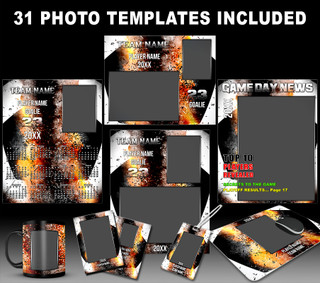 SOCCER PHOTO TEMPLATES - INFERNO COLLECTION