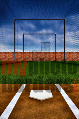DIGITAL BACKGROUND - BATTING CAGE