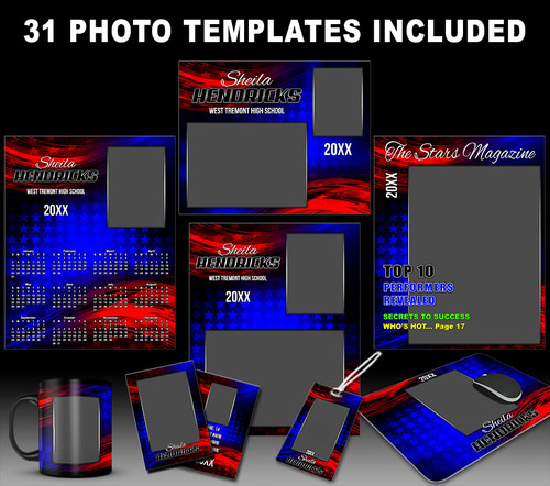 ABSTRACT STARS PHOTO TEMPLATE COLLECTION