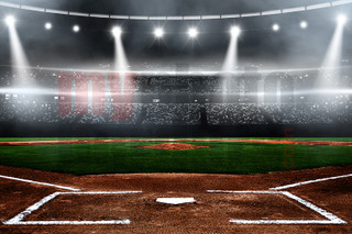 DIGITAL BACKGROUND - BASEBALL STADIUM - HORIZONTAL