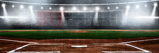 DIGITAL BACKGROUND - BASEBALL STADIUM - PANORAMIC