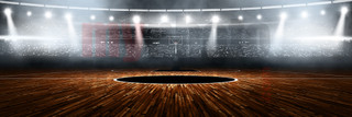 DIGITAL BACKGROUND - BASKETBALL STADIUM - PANORAMIC