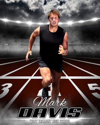 SPORTS POSTER PHOTO TEMPLATE - TRACK