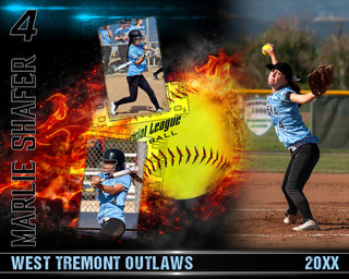SOFTBALL PHOTO COLLAGE - ON FIRE