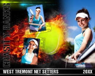 TENNIS PHOTO COLLAGE - ON FIRE