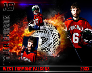 LACROSSE PHOTO COLLAGE - ON FIRE