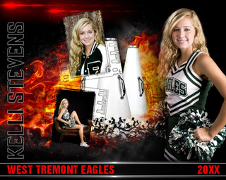 CHEERLEADING PHOTO COLLAGE - ON FIRE