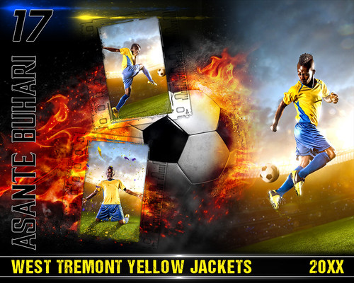 SOCCER PHOTO COLLAGE - ON FIRE