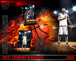 BASKETBALL PHOTO COLLAGE - ON FIRE