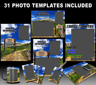 CROSS COUNTRY PHOTO TEMPLATE COLLECTION