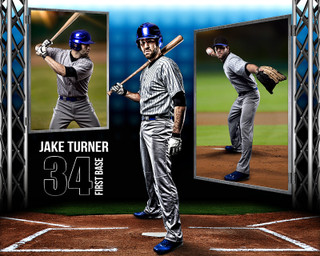 BASEBALL PHOTO COLLAGE - STEEL TOWER