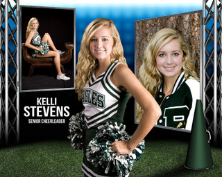 CHEERLEADING PHOTO COLLAGE - STEEL TOWER