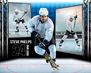 HOCKEY PHOTO COLLAGE - STEEL TOWER