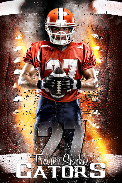 sports team photography templates - player banner sports photo template football inferno
