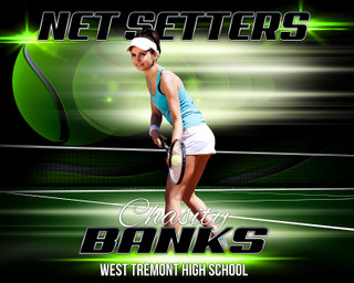 SPORTS POSTER PHOTO TEMPLATE - HORIZONTAL - TENNIS