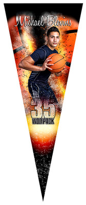 PENNANT PHOTO TEMPLATE - BASKETBALL INFERNO