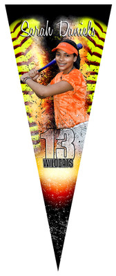 PENNANT PHOTO TEMPLATE - SOFTBALL INFERNO