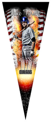 PENNANT PHOTO TEMPLATE - BASEBALL INFERNO