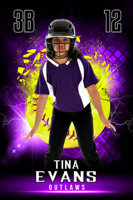 PLAYER BANNER PHOTO TEMPLATE - SHATTERED SOFTBALL