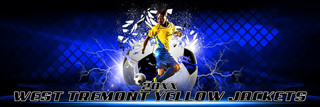 PANORAMIC SPORTS BANNER TEMPLATE - SHATTERED SOCCER BALL