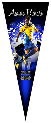 PENNANT PHOTO TEMPLATE - SHATTERED SOCCER BALL