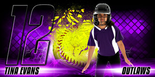 10X20 PHOTO TEMPLATE - SHATTERED SOFTBALL