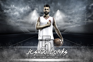 PLAYER BANNER PHOTO TEMPLATE - HORIZONTAL STREETBALL