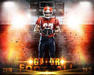 SPORTS POSTER PHOTO TEMPLATE - HORIZONTAL - IMPACT FOOTBALL